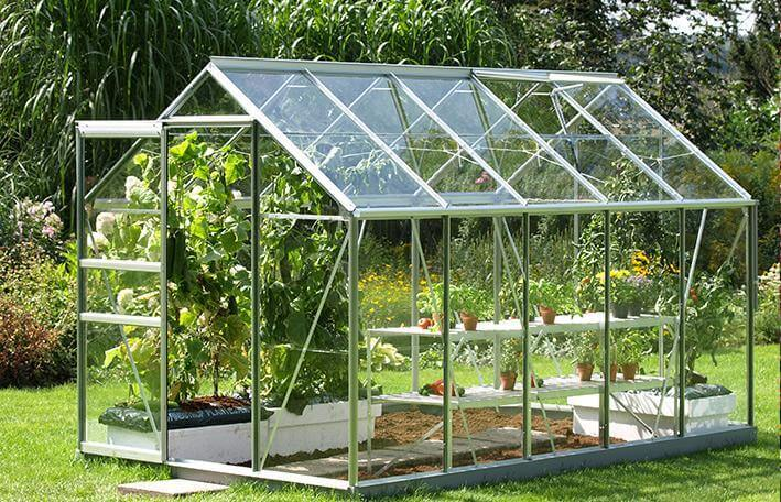 greenhouse glass panels